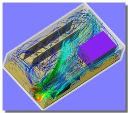 Electronic enclosure flow simulation using SolidWorks Flow Simulation