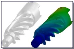 Plastic Extruder Deflection Plot Using SolidWorks Simulation
