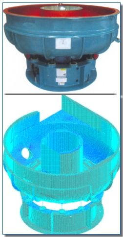 Vibro Finishing Machine Design Validation for Infinite Life using Finite Element Analysis - Done by EGS India