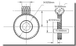 Telscopic Coil Lifter additionally Etp series high capacity balancers besides Gear Design Trax Cam Trax Gear Teq Cam ics Inside SolidWorks likewise A udl pla ary cone disk step less speed variator 1 furthermore WORM GEAR LUBRICANT. on worm gear drawing
